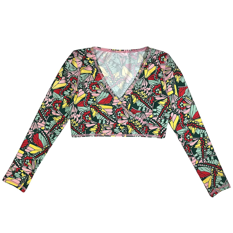 SwimZip Girls UPF Wrap Top 1 Piece Multiple Colors