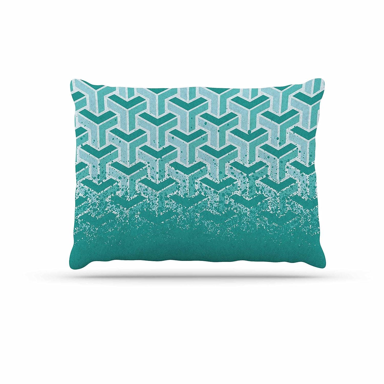 KESS InHouse Laura Nicholson Indigo Labyrinths bluee White Dog Bed, 50  x 40