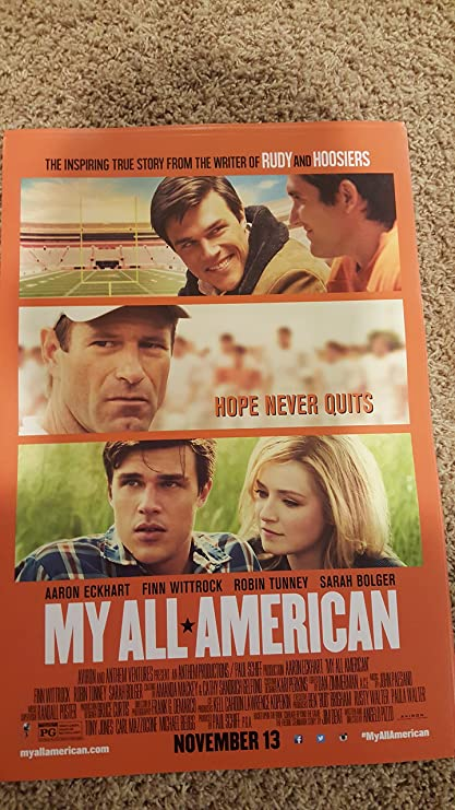Amazon MY ALL AMERICAN Original Movie Promo Poster 13x19