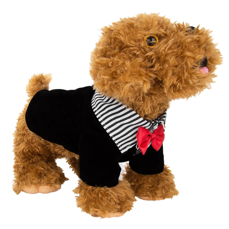 Cuecue Pet Tuxedo abito con fiocco Vangoddy Inc CHK00100L