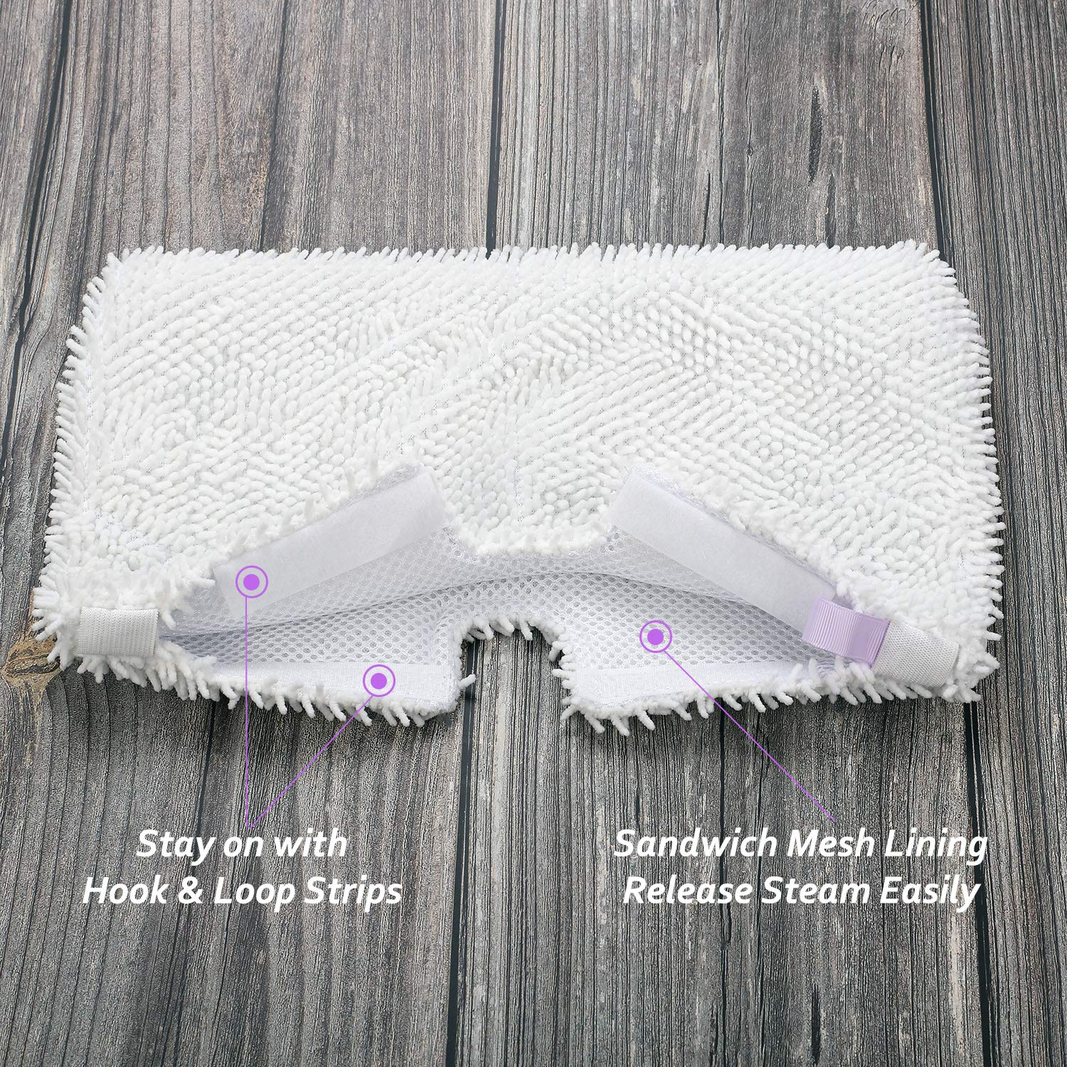 5 Replacement Standard Pads for Shark Pocket Mop S3501 S3550 S3601 S3901