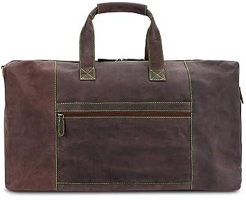 LEABAGS Sydney Neon sac de voyage en véritable cuir de buffle - NeonGreen 38uHPG3Vxk