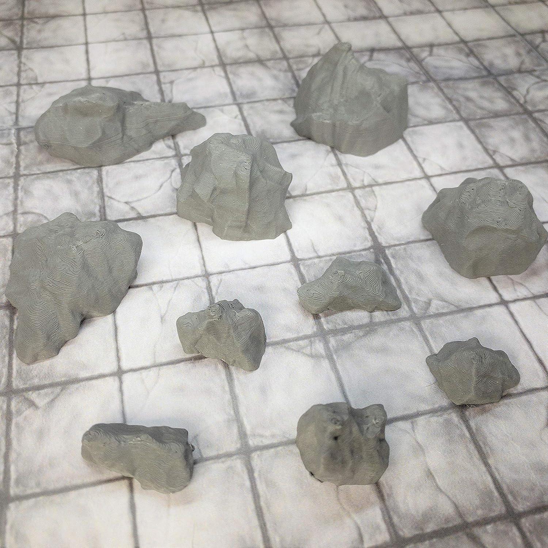 Extruded Gaming Rock Scenery Granite Boulders Set 28mm Gaming Terrain