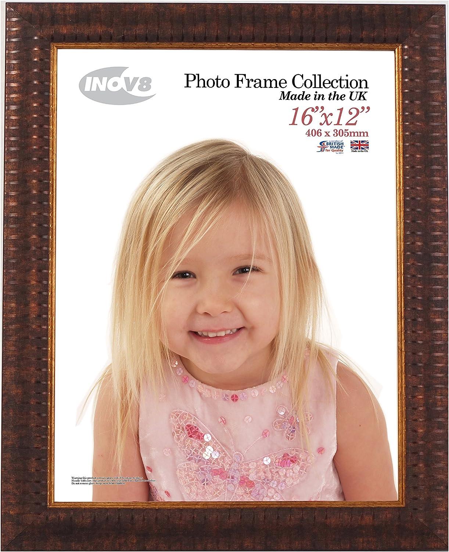 Inov8 Ripple - Marco de Fotos (plástico, 40,6 x 30,5 cm, 2 Unidades), Color Negro, plástico, marrón, Pack de 2