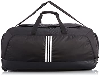 b130af59d1 Image Unavailable. Image not available for. Colour  adidas Essentials 3S  Performance Teambag Sports Bag Wheels – Black ...