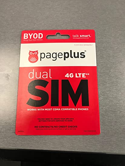 53167331ba159b Amazon.com: Page Plus 4G LTE Sim Use on any Verizon 4G LTE Phone Prepaid:  Cell Phones & Accessories