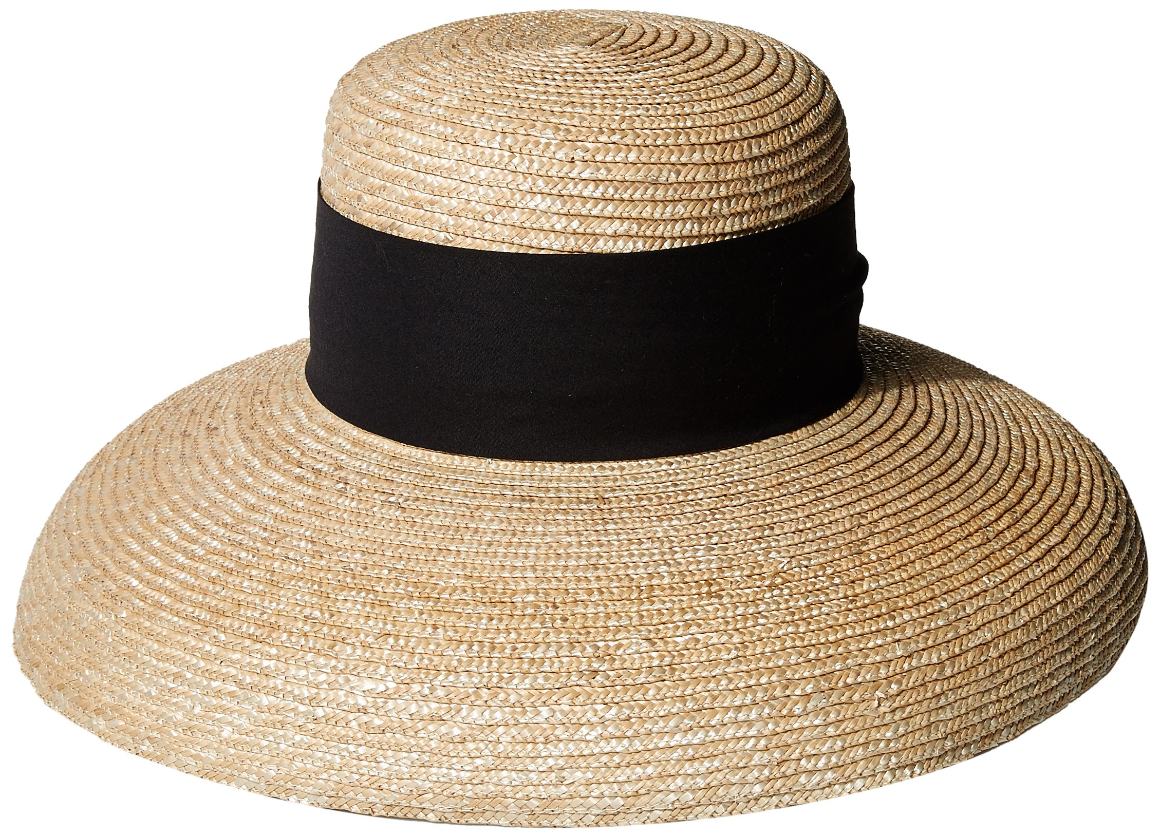 Gottex Women's Sasha Milan Sunhat Packable, Adjustable and UPF Rated, Natural/Black, One Size by Gottex