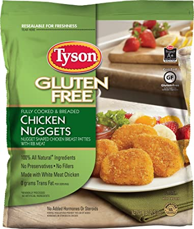 Tyson Gluten Free Chicken Nuggets 18 Oz Frozen Amazon