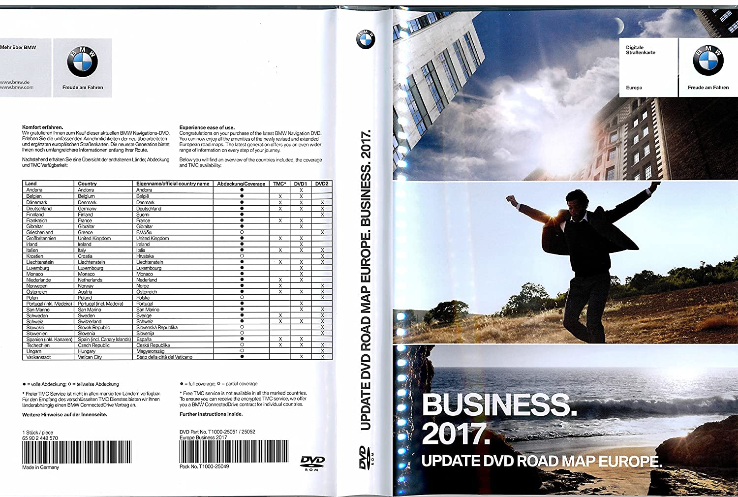 Bmw Business 2017 Navigations 2x Dvd Update Vollversion Road Map