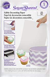 Wilton White Sugar Sheets Edible Decorating Paper - 0.85 oz. - Cake Decorating Supplies