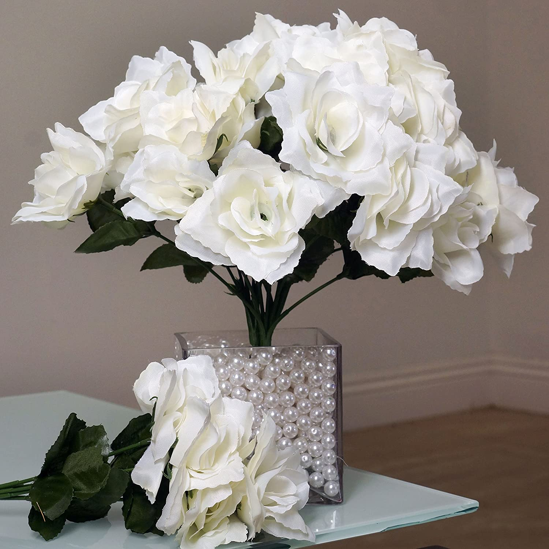 Amazon Balsacircle 252 Cream Silk Open Roses 36 Bushes