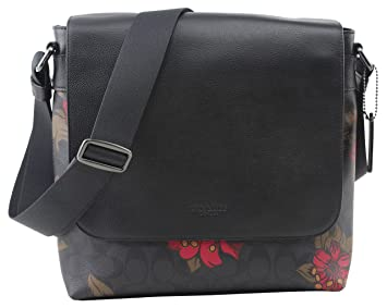 Image Unavailable. Image not available for. Color  Coach Men Red Logo  Floral Hawaiian Bag F24717 f78782c9d0b35