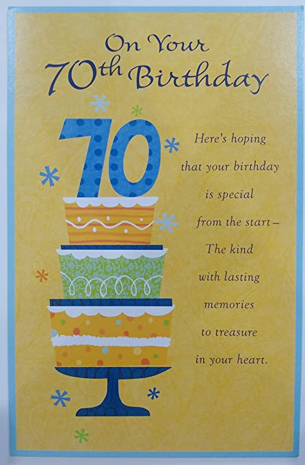 Amazon On Your 70th Birthday Greeting Card