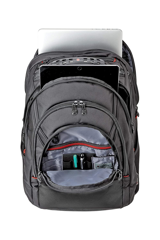 Wenger 605501 Sac /à Dos avec Poche pour Ordinateur Portable Noir balistique