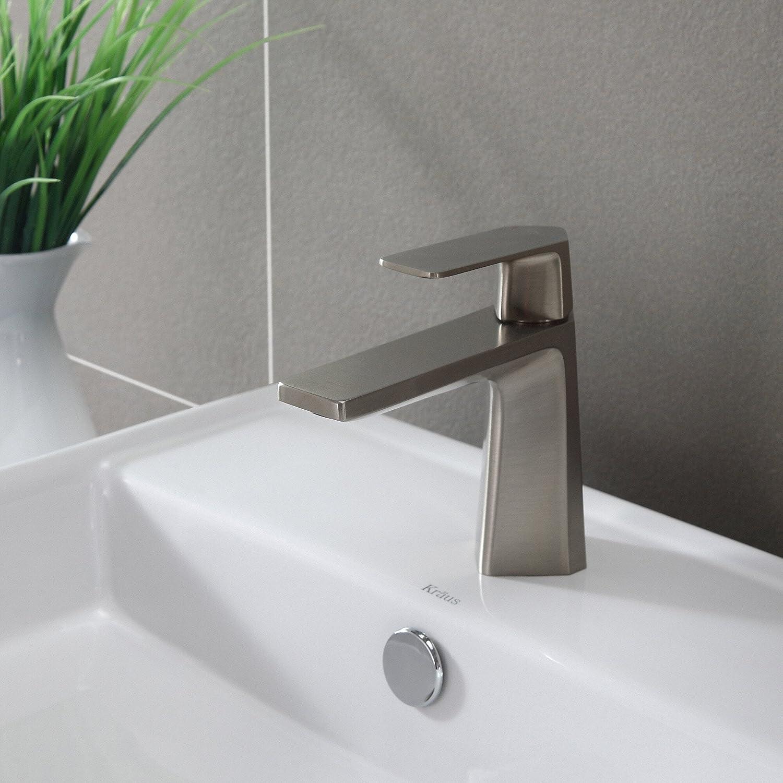Kraus KEF-15301BN Aplos Single Lever Basin Bathroom Faucet Brushed ...