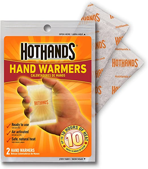 Stays warm for up to 7 hours!!! Twin pack Coleman Hand Warmers