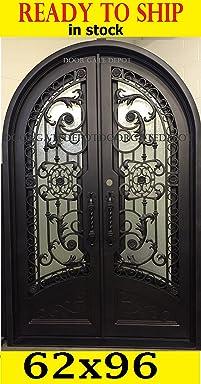 IRON DOORS (Wrought Front Tempered Glass) 62u0027u0027X96u0027u0027 DGD1201RBP