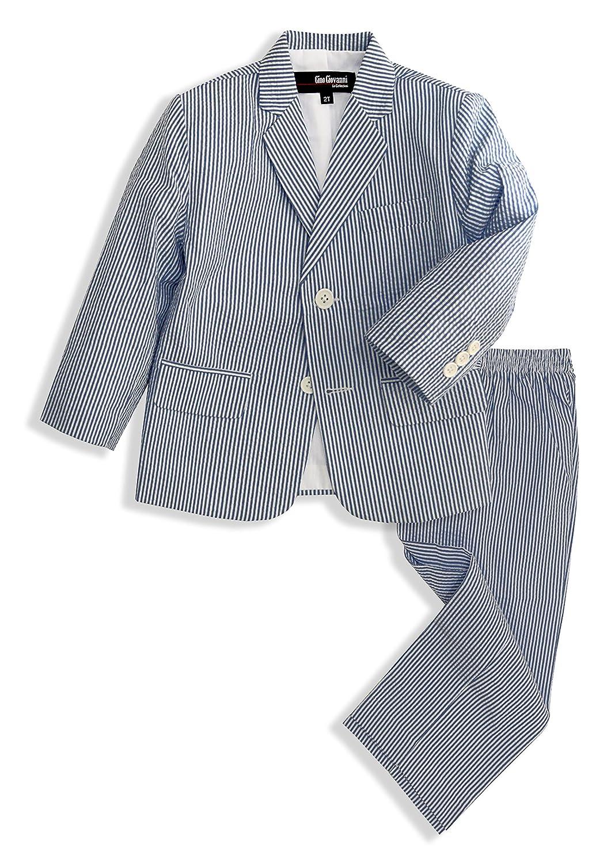 Amazon.com: Gino Giovanni Boys Seersucker 2 Button Suit Set: Clothing