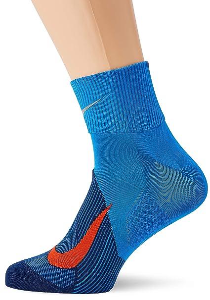 Nike Elite Lightweight Quarter Unidad Calcetines, Todo el año, Hombre, Color Signal Blue