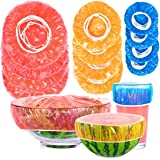 Vida Line Reusable Bowl Covers in 3 Sizes (96 Covers) - Thick, Durable PE Plastic Plate and Food Covers with 360 Elastic…
