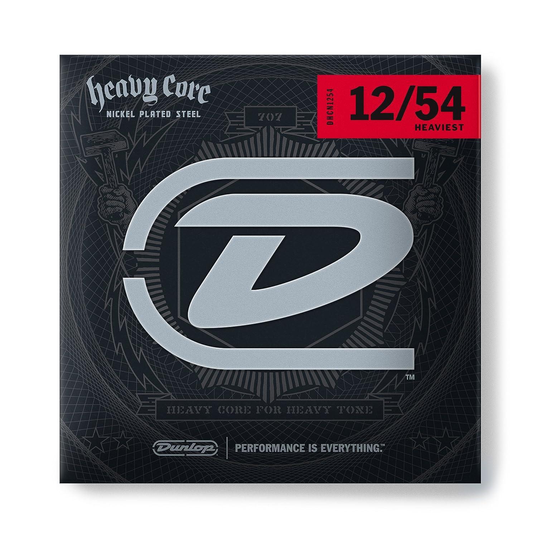 Amazon.com: Dunlop DHCN1254 Heavy Core Nickel Wound Guitar Strings ...