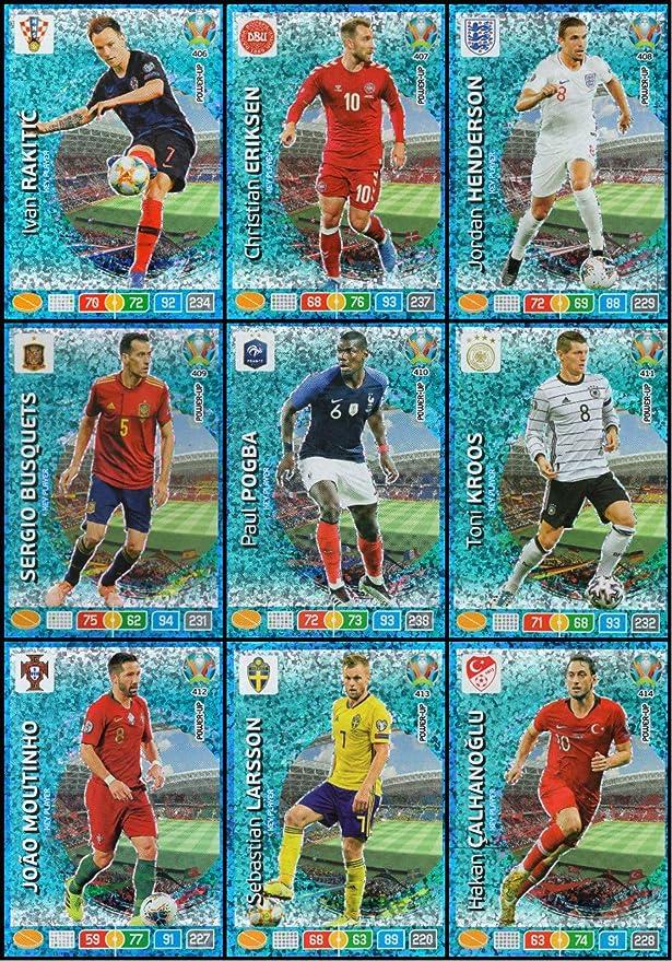 Panini Adrenalyn XL UEFA Euro 2020 Completo Conjunto De Nueve (9) Llave Jugador Tarjetas #406- #414: Amazon.es: Juguetes y juegos