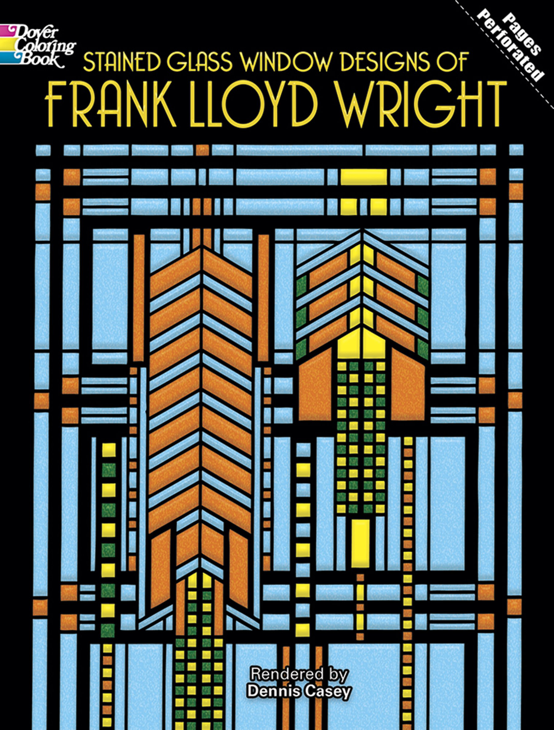 stained glass window ideas double glazing glass stained glass window designs of frank lloyd wright dover design coloring book dennis casey 9780486295169 amazoncom books