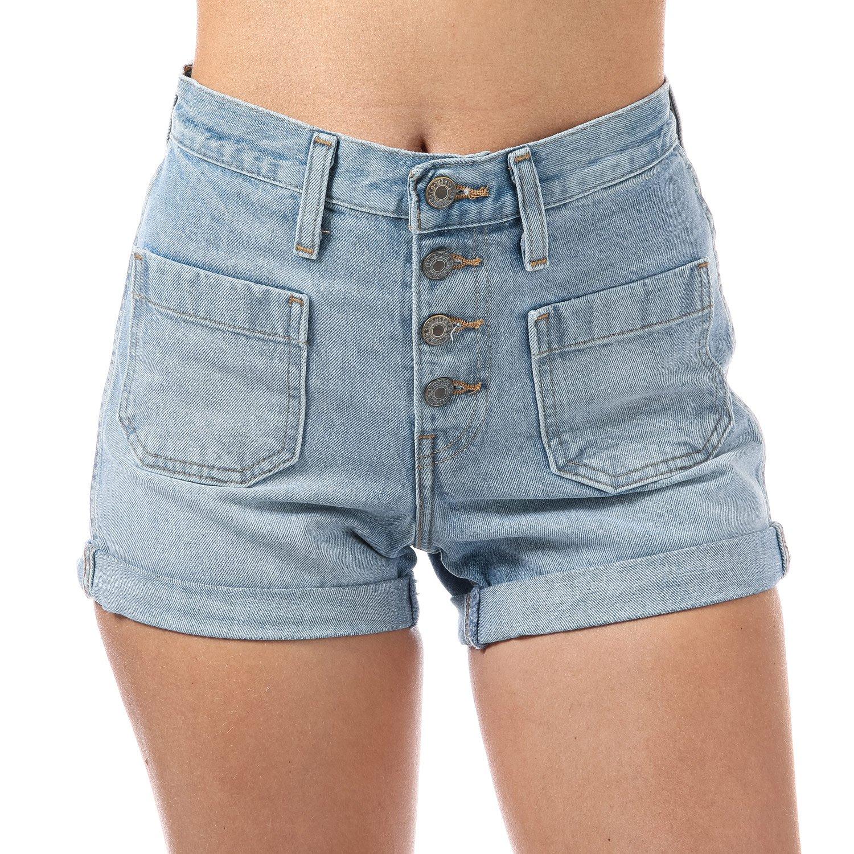 ae18868f Levi's Womens Orange Tab Shorts in Kerouac Effect: Levis: Amazon.co.uk:  Clothing