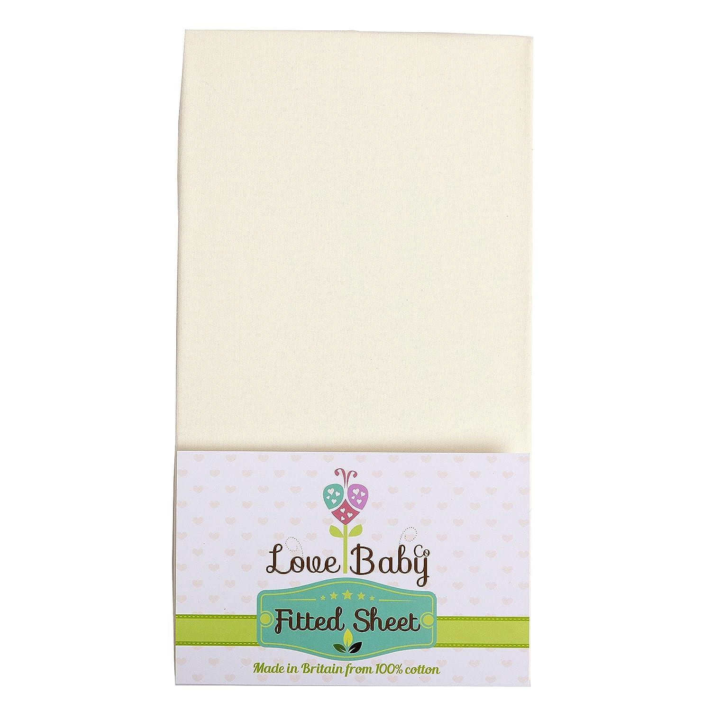 Sábana Cuna Chicco Next2Me–Cuna Algodón Orgánico blanco rosa rosa Talla:84 x 54 x 6 Love Baby Co LBCN2Me-P
