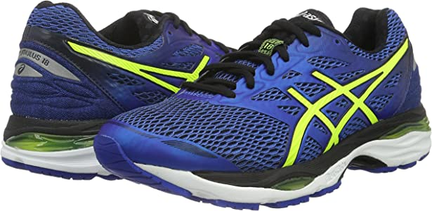 Asics Gel-Cumulus 18, Zapatillas de Running para Hombre, Azul (Blue/Yellow), 40 EU: Amazon.es: Zapatos y complementos