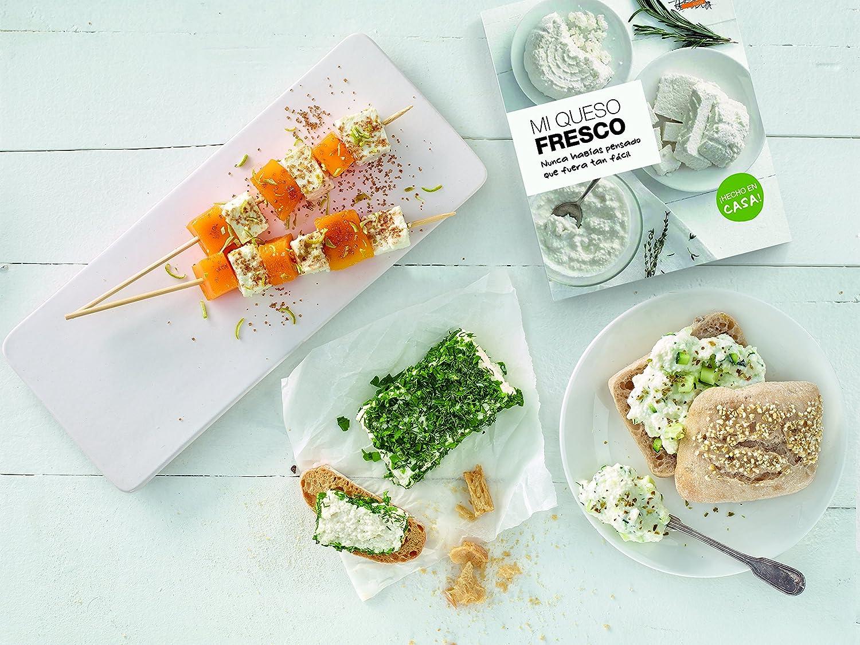 Compra Lékué - Kit para elaborar queso fresco y libro de recetas en español en Amazon.es