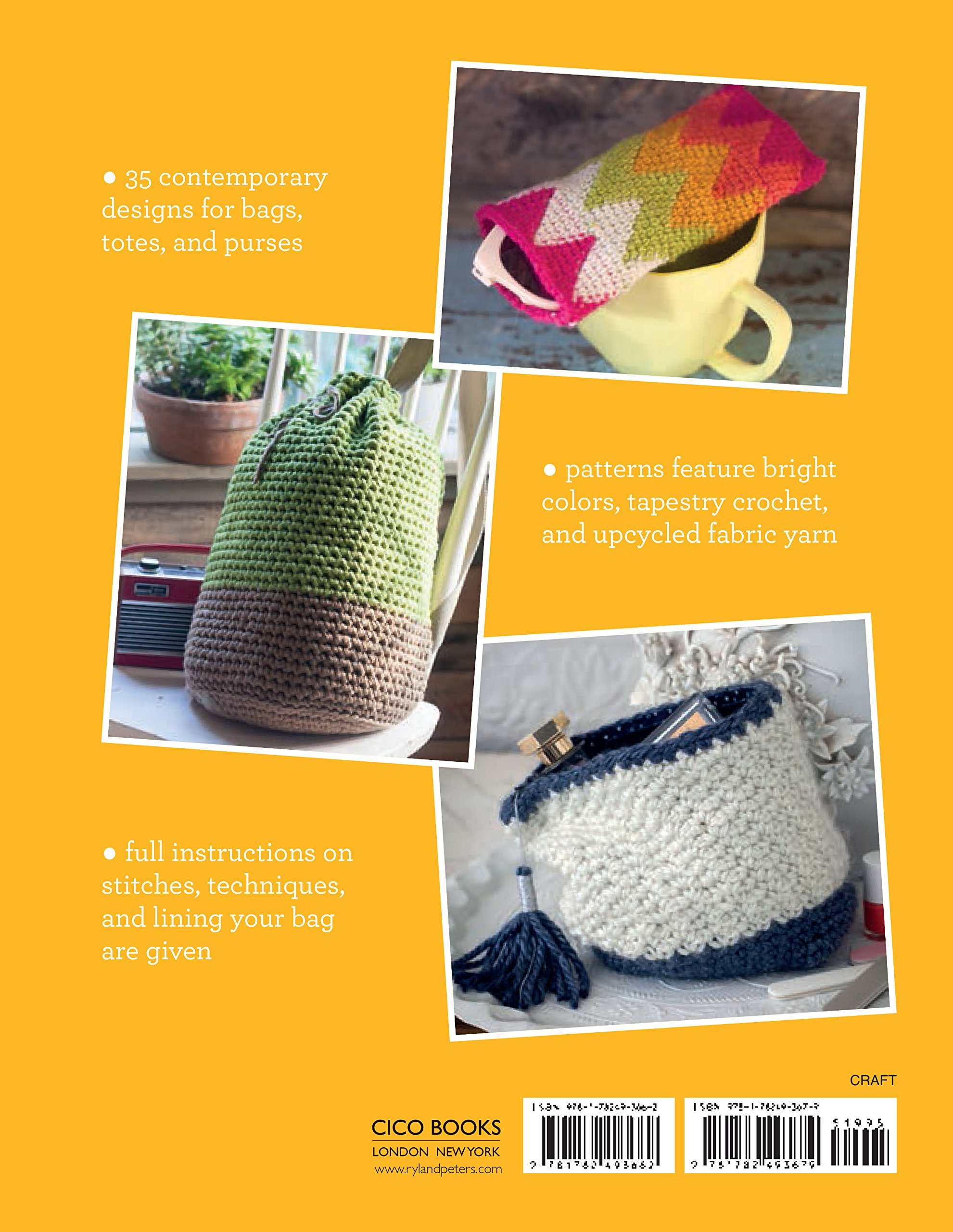 35 Crocheted Bags Colourful Carriers From Totes And Baskets To