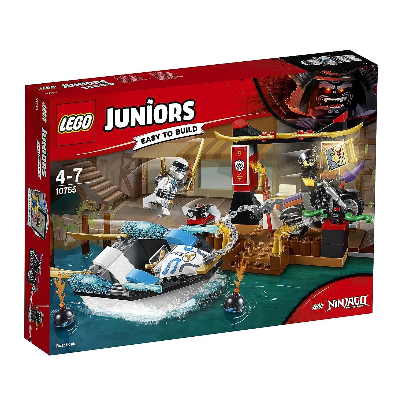 Lego 10755 Juniors Zanes Ninja Boat Pursuit Building Set Action