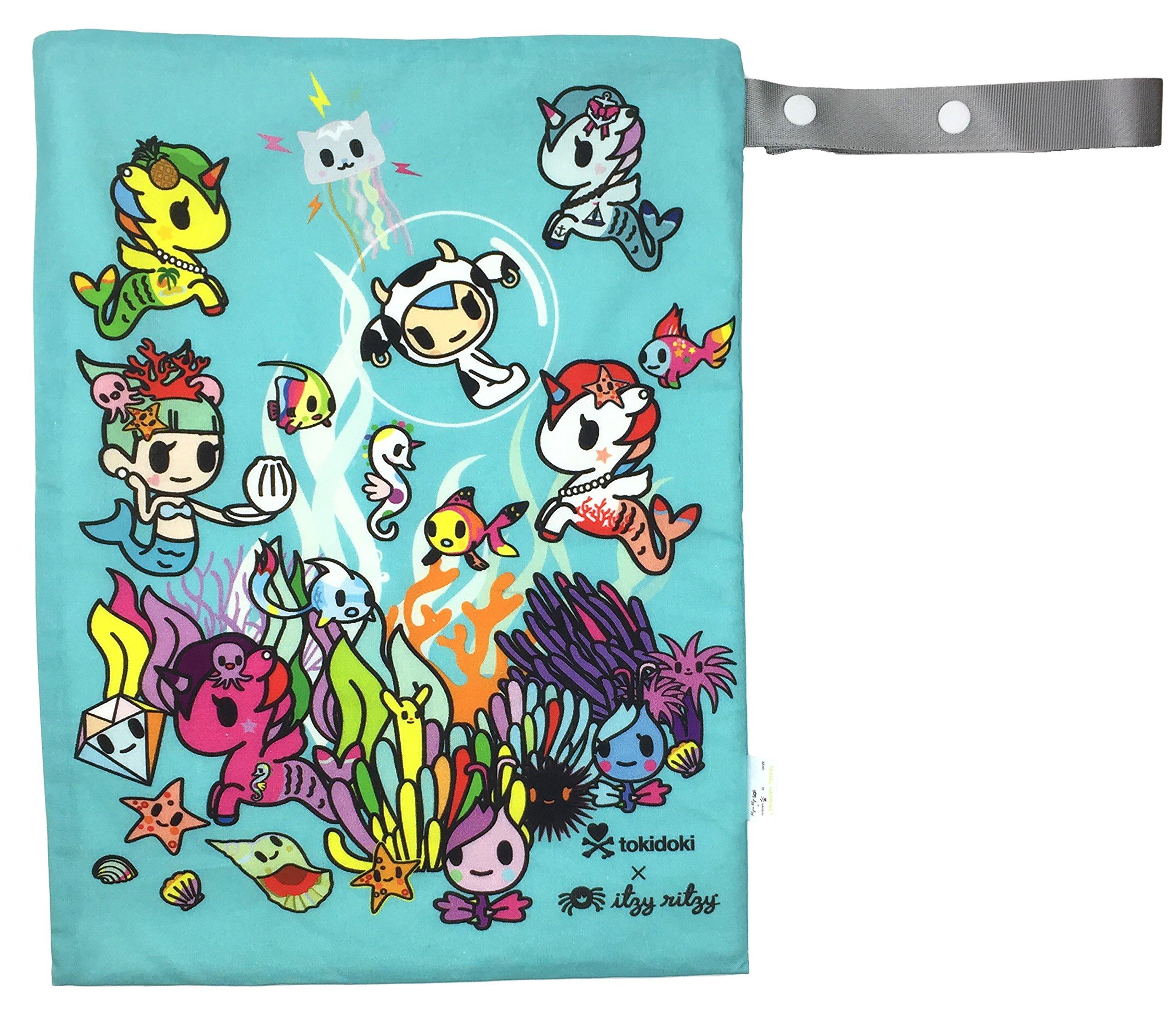Itzy Ritzy Tokidoki Travel Happens Medium Sealed Wet Bag, Underwater Adventure