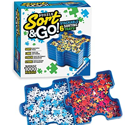Ravensburger Sort and Go Jigsaw Puzzle Accessory - Sturdy and Easy to Use Plastic Puzzle Shaped Sorting Trays for Puzzles Up to 1000 Pieces: NotAvailable: Toys & Games