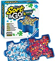 Ravensburger Sort and Go Jigsaw Puzzle Accessory - Sturdy and Easy to Use Plastic Puzzle Shaped Sorting Trays for Puzzles Up