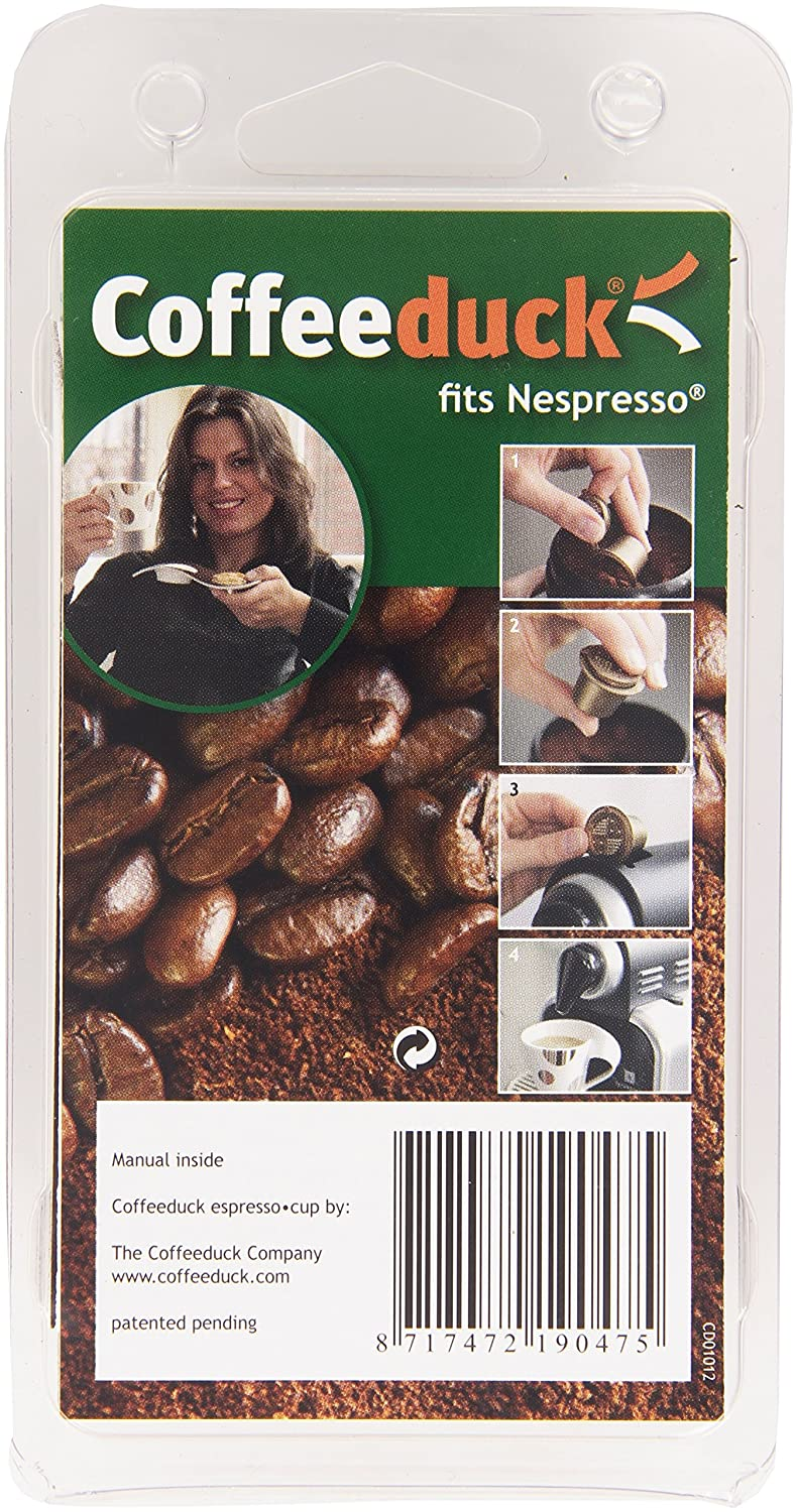 Coffeeduck Refillable Capsules for Nespresso NEW V2 Universal (3 Pc.) COFFEEDUCK4N