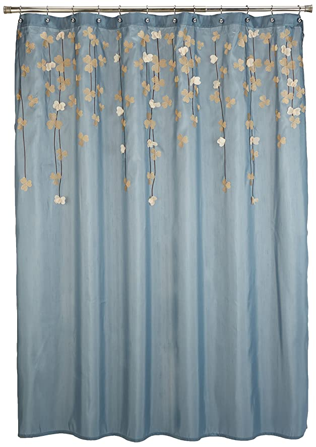 Amazon Lush Decor Flower Drops Shower Curtain 72 By Inch Federal Blue White Home Kitchen