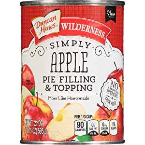 Wilderness Simply Pie Filling & Topping, Apple, 21 Ounce (Pack of 8)