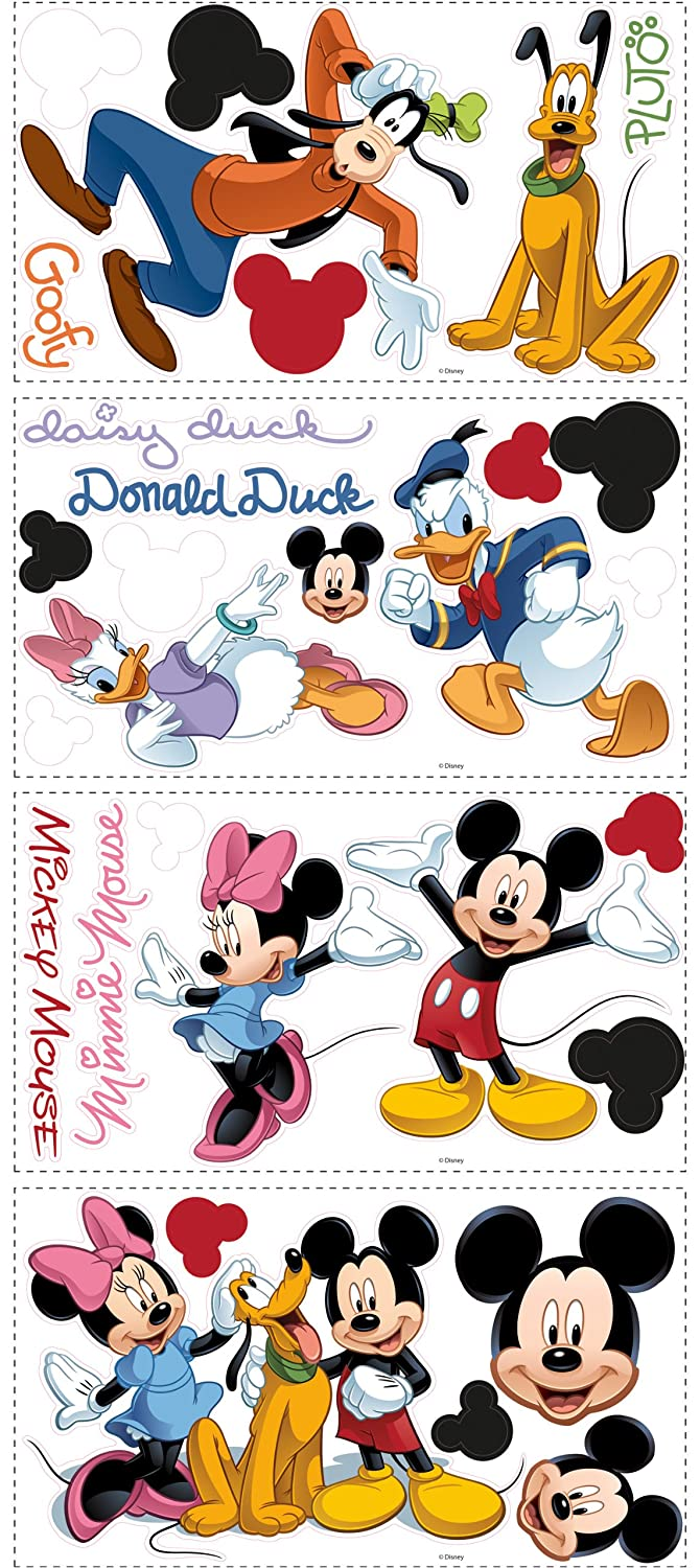 Amazoncom Disney Mickey Friends Wall Decal Cutouts 18x40 Home