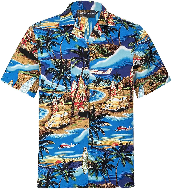 Camisa Hawaiana | Hombre | Señores | 100% Algodón | Talla S - 8XL | Manga Corta | Puesta de Sol | Muchos Colores | Tropical | Aloha | Playa | Palmas | Camiseta Hawaiiana | Hawaii: Amazon.es: Ropa y accesorios