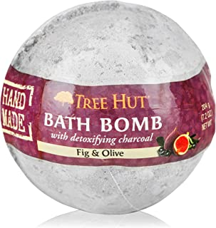 product image for Tree Hut Shea Detoxifying Bath Bomb with Charcoal Fig & Olive, 7.2oz, Ultra Hydrating Bath Bomb for Nourishing Essential Body Care