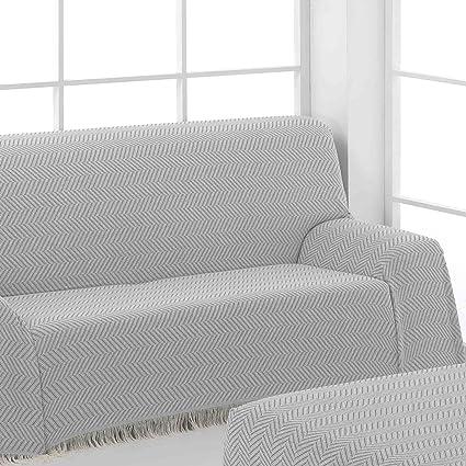 Colcha Multiusos Foulard para Sofá, 125x180cm Color Gris (Varios tamaños y colores disponibles)