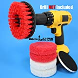 Hard Water Stain Remover, Mineral Deposit, Soap Scum Bathroom Power Brush and Scour Pad Kit