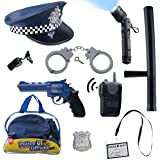 Police Toys/Police Chief, Kids Roll Play set with Hat, Sturdy and Long Lasting with Full Accesories, and EASY CLEANUP Detective Bag