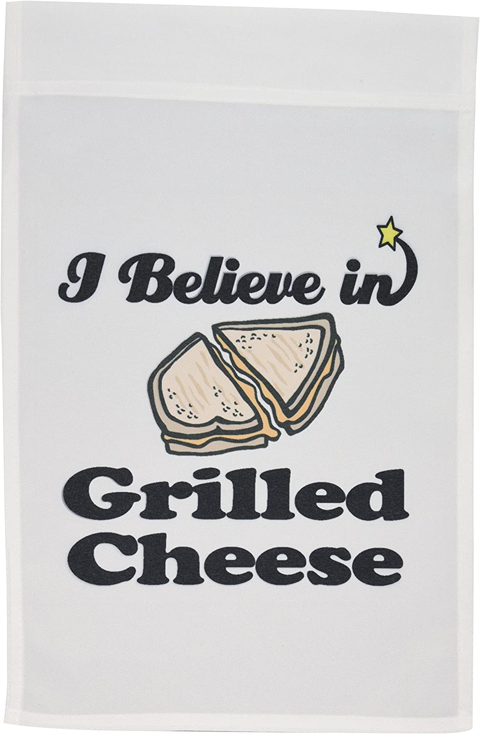 3dRose fl_105192_1 I Believe in Grilled Cheese Garden Flag, 12 by 18-Inch