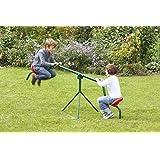 Mottez - Altalena basculante Tourny, per bambini, 50 kg, colore: Verde