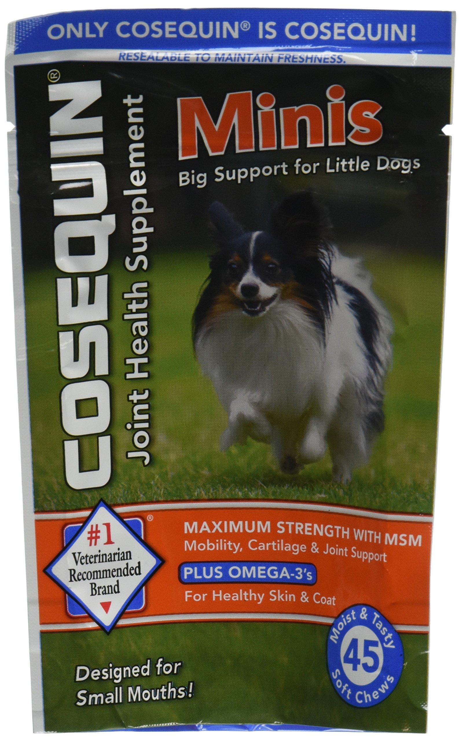 Cosequin Minis Soft Chews Maximum Strength MSM Plus Omega3, 45 Count