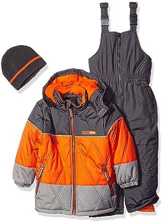 d63b014d0 Ixtreme Little Boys Colorblock Heavy Skiing Snowsuit Jacket Bib ...