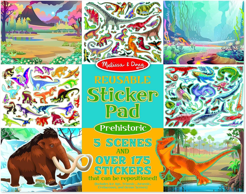 Melissa & Doug Prehistoric Reusable Sticker Pad